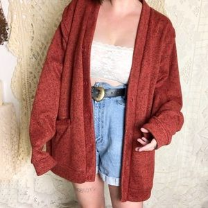 Sweaters - Vintage | oversized rust orange cardigan